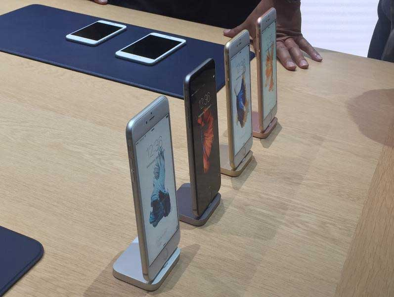 Apple introduced the iPhone 6S and iPhone 6S Plus, which come in four colors. Credit: Miguel Helft/ Forbes