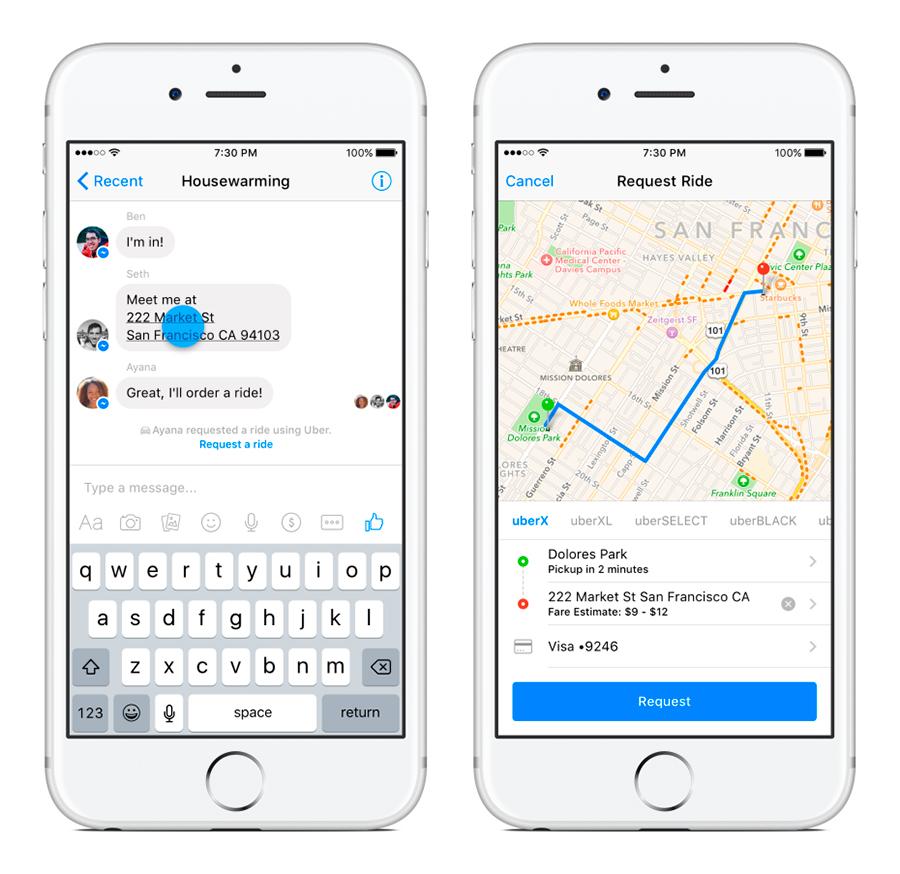 Uber-and-Facebook-Messenger