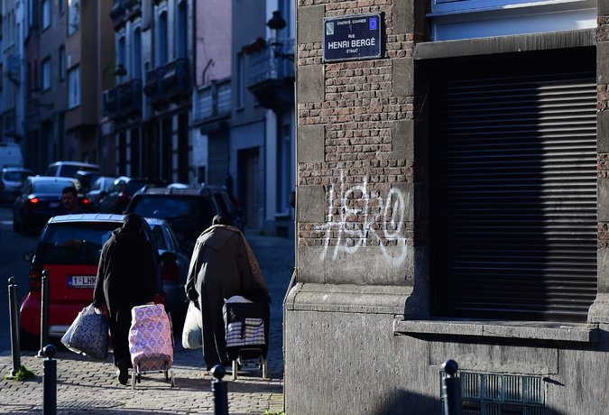 The Rue Henri Bergé in the Schaerbeek area of Brussels on Friday. Credit: The New York Times/Emmanuel Dunand/Agence France-Presse — Getty Images