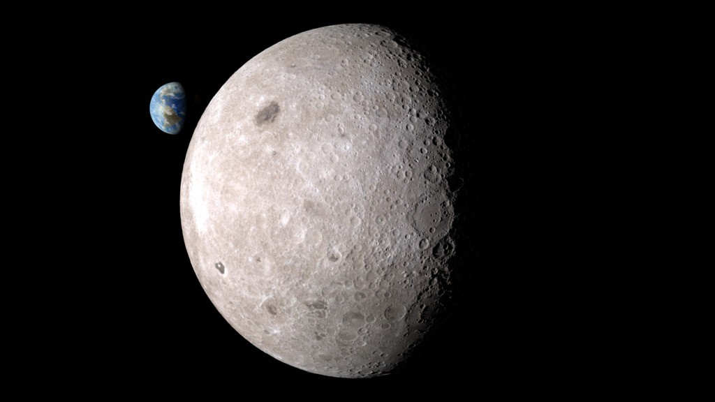 The far side of the moon. Photo: Space