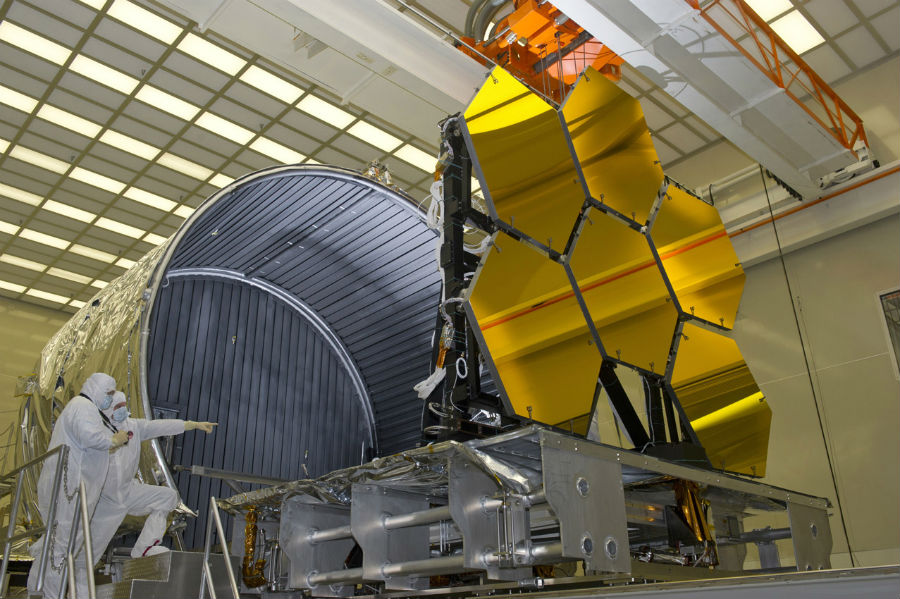 Scientists working on the James Webb Space Telescope. Photo: NASA