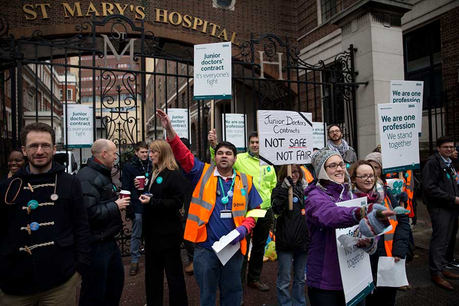 Britain--Junior-Doctor-Strike-