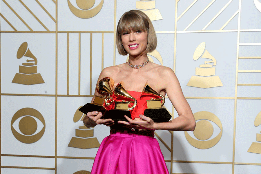 Swift took home Best Pop Vocal Album (1989), Album of the Year (1989) and Best Music Video (Bad Blood feat. Kendrick Lamar). Photo credit: Getty Images