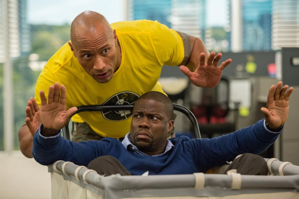 """Kevin Hart and Dwayne """"The Rock"""" Johnson in Central Intelligence. Photo: ComingSoon"""