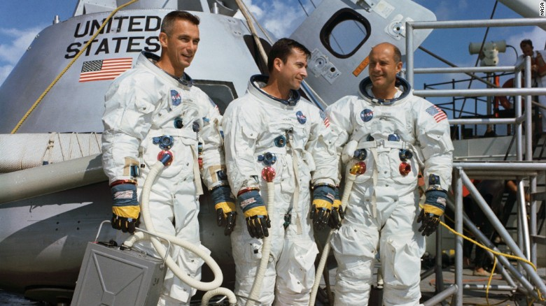 From left to right, the Apollo 10 team: Gene Cernan, John Young and and Thomas Stafford. Photo: NASA/CNN