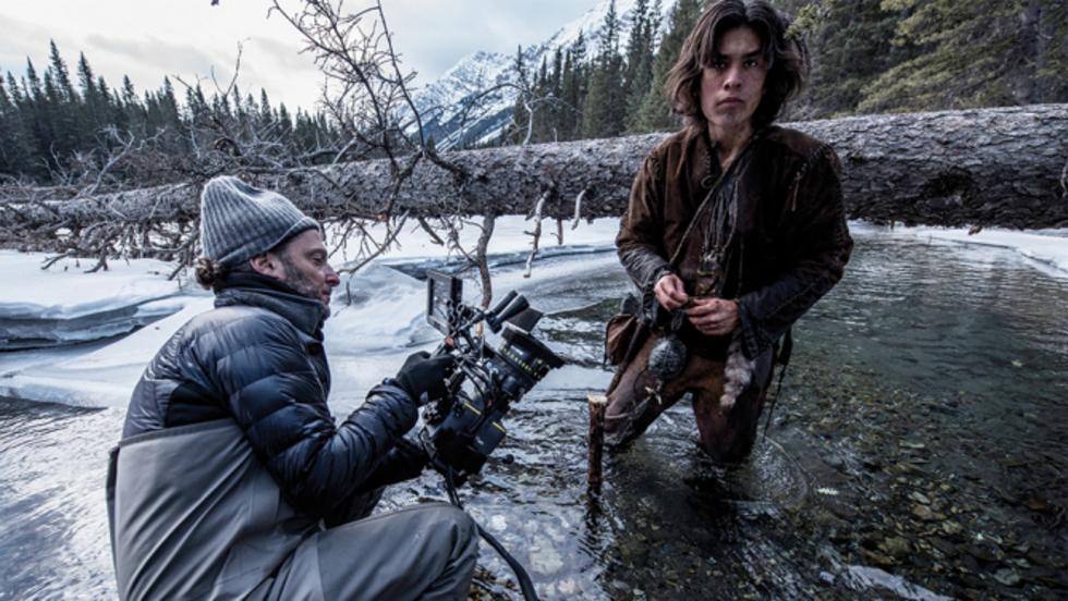 Emmanuel Lubezki filming The Revenant. Photo: Tribeca Film Institute