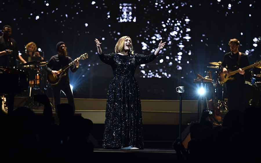 Adele started a world tour Monday night at the SSE Arena Belfast. Photo credit: Burberry / 9 News