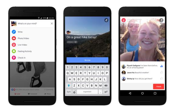 Facebook's algorithm to push Live Video to top of news feed