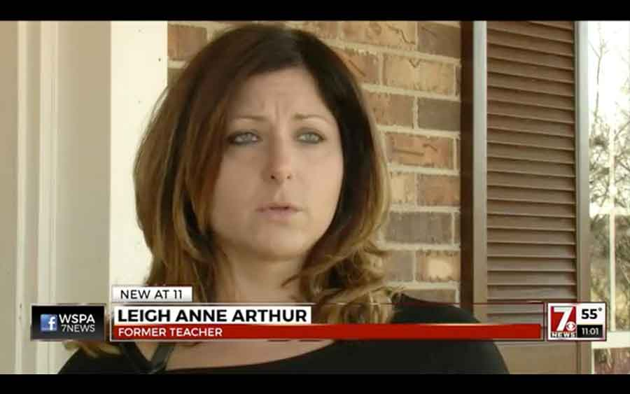 Leigh Ann Arthur was on hall patrol duty for five minutes in between classes and left her unlocked phone on her desk on Feb. 19. Photo credit: Opposing Views