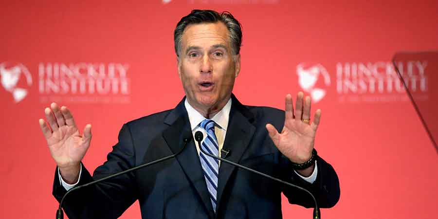 "Mitt Romney made declarations against Republican presidential candidate Donald Trump on Thursday, saying that he was ""phony and fraudulent"". Photo credit: AP / Business Insider"
