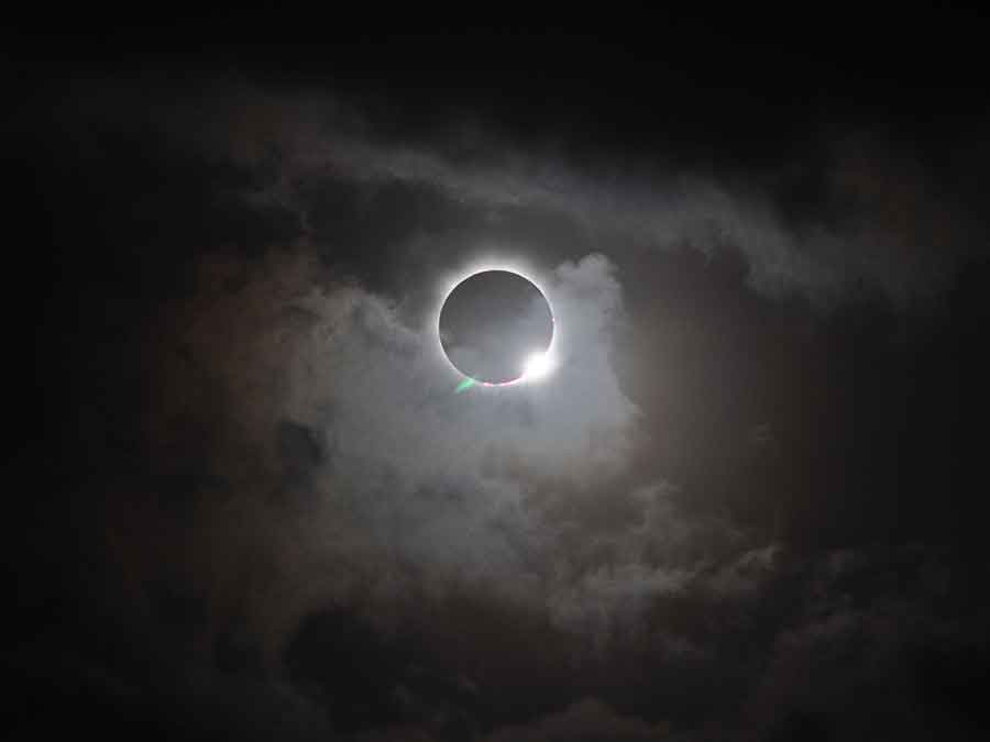 On Wednesday, the moon will block the sun creating a total solar eclipse that will go across the Pacific Ocean from Indonesia to Hawaii.  Photo credit: NASA