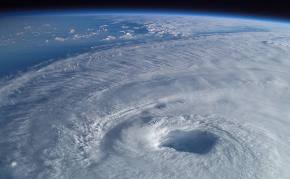 Hurricane Isabel churns below the International Space Station in 2003. Credit: NASA