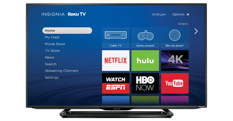 On Thursday, Roku announced the release of its 4K UHD Roku TV from Insignia. Photo credit: Business Wire