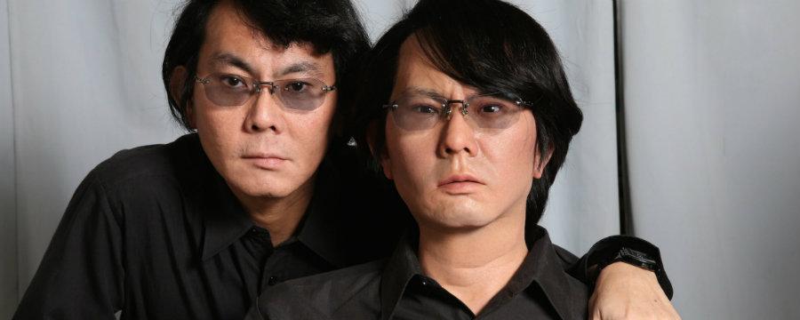 Hiroshi Ishiguro and his geminoid. Photo credit: Motherboard