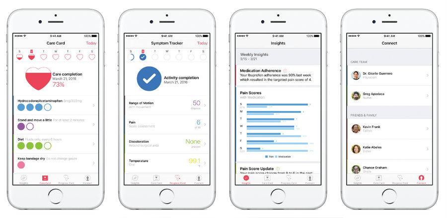 Apple announced its new framework called CareKit on a press conference on March 21, 2016. Photo credit: Engadget