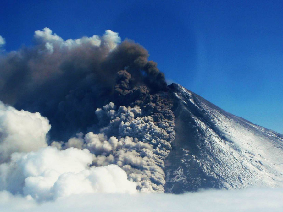 A volcano in Alaska's Aleutian Islands called Pavlof erupted on Sunday afternoon at 4:18 p.m. local time. Photo credit: Business Insider