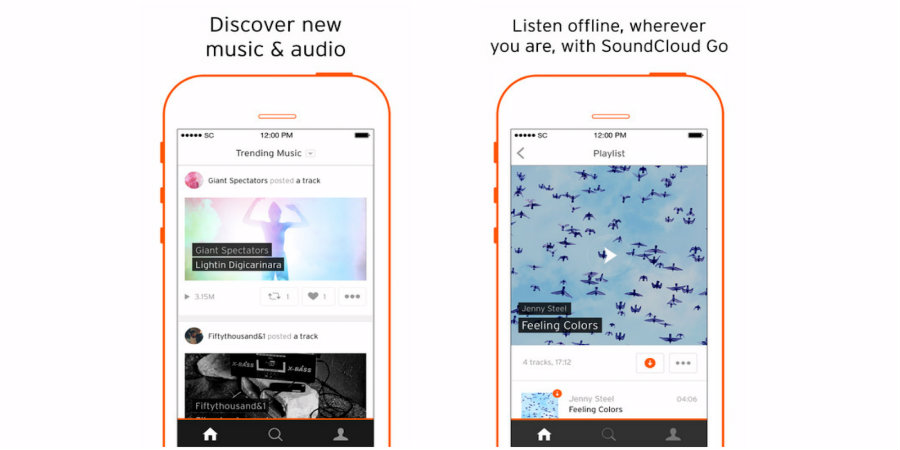 Soundcloud has launched its new ad-free streaming application that will allow users to enjoy over 125 million track offline. Photo credit: 9 to 5 Mac