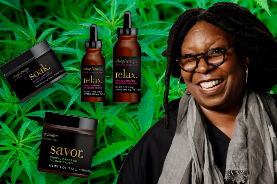 Whoopi Goldberg , comedian, actress and host of The View, just announced her own line of medical marijuana. Photo credit: They Daily Beast