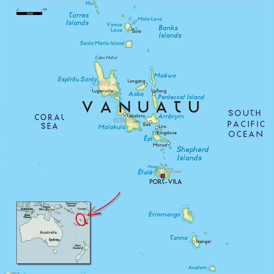 According to the U.S. Geological Survey, Vanuatu was struck by an earthquake at magnitude -6.9 early this morning. Photo credit: DX Coffee