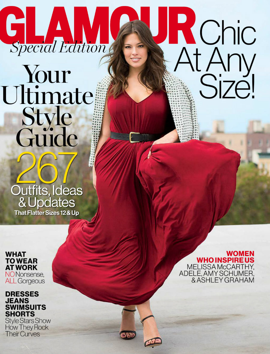 Glamour magazine's special issue celebrating plus size women. Photo credit: Glamour / Distractify