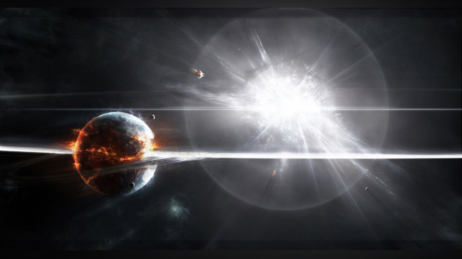 A supernova can destroy an entire solar system and everything within. Credit: Powerlisting.wikia