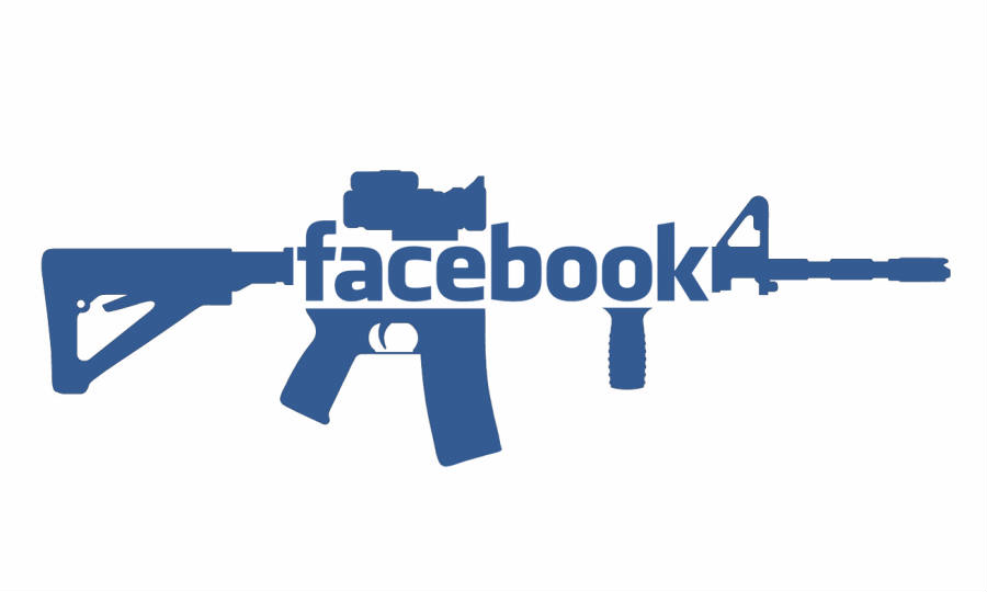 Facebook has stepped up its efforts to remove every Facebook Group currently dedicated to trading and selling weapons online, and asks for users to report any suspicious group on Facebook. Credit: Vocativ