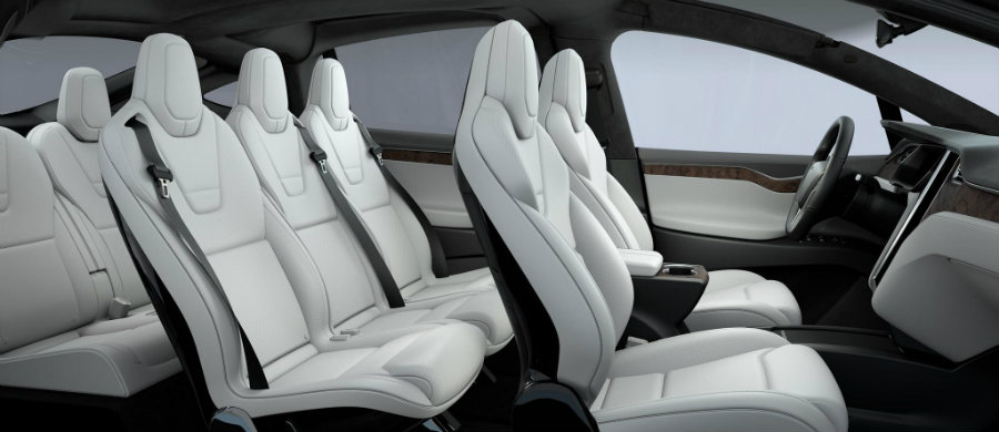 Tesla Motors issued a voluntary safety recall on Monday for its Model X SUVs over third-row back seats that could unexpectedly fold forward in a crash or sudden stop. Photo credit: WJR
