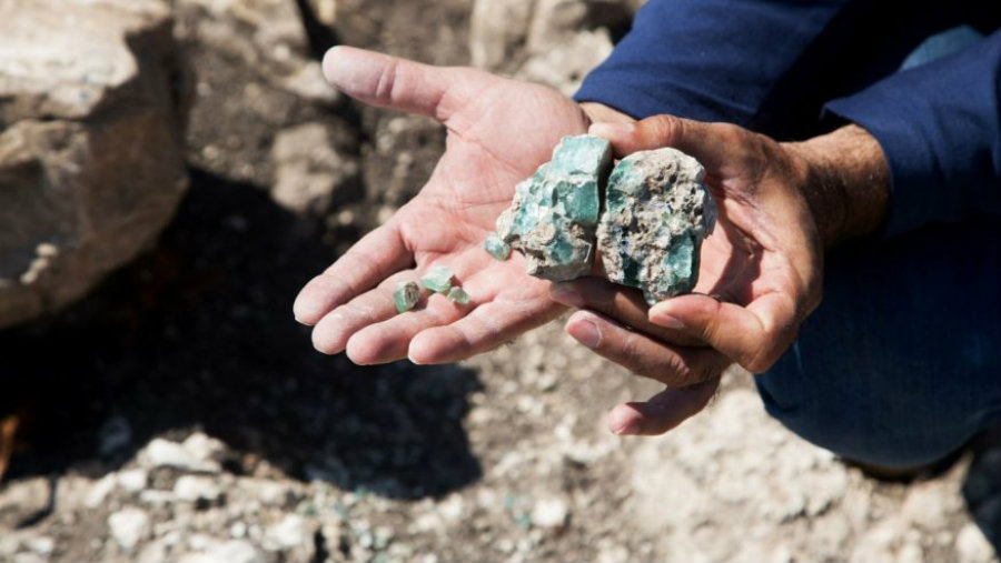 Israeli archaeologists at Mount Carmel's base discovered kilns dating back to the Roman period and they are being linked to the first productions of Judean glass. Photo credit: Assaf Peretz, courtesy of Israel Antiquities Authority / Fox News