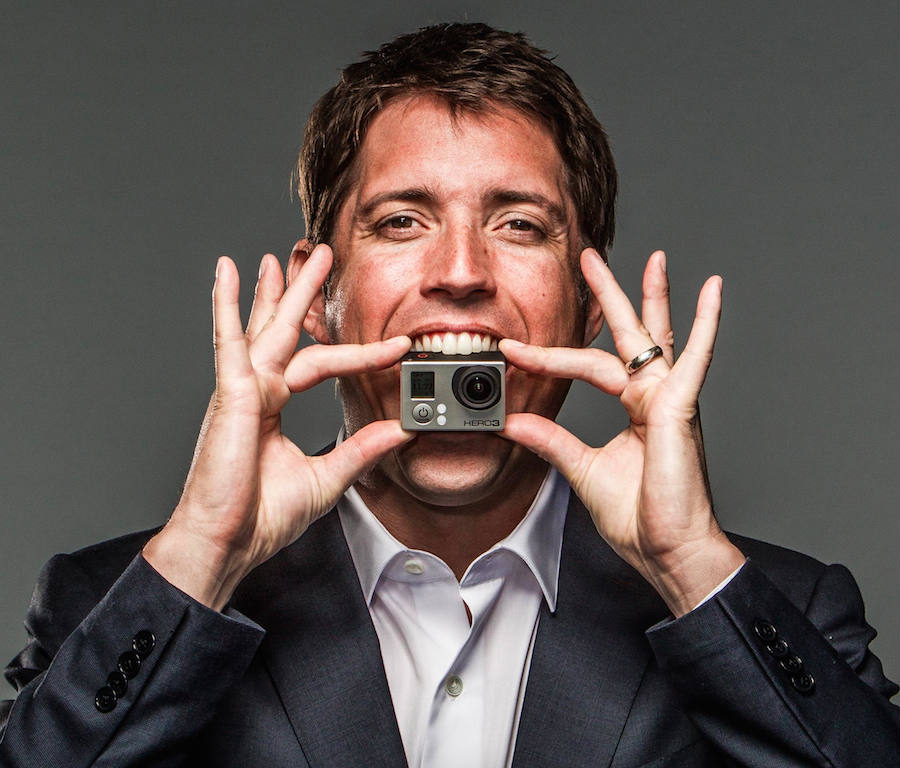 CEO and founder of GoPro, Nick Woodman on a photoshoot on 2013 for the release of the Hero 3 high definition camera. Credit: Photo by eric Millette for Forbes