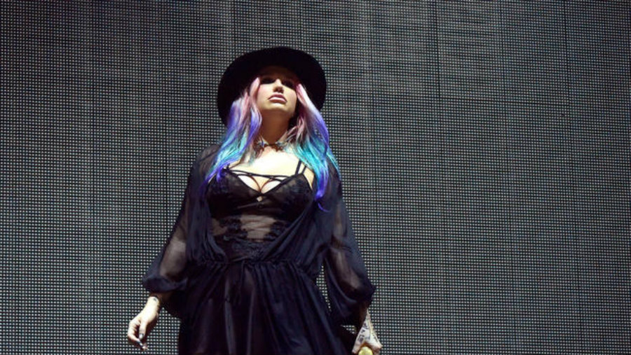 Kesha surprised her fans with her performance at the Coachella festival this weekend. Photo credit: LA Times