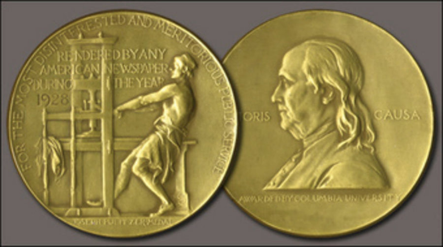 This year's Pulitzer Prize winners were announced by the organization on April 18, at 3pm ET. Photo credit: NBC New York