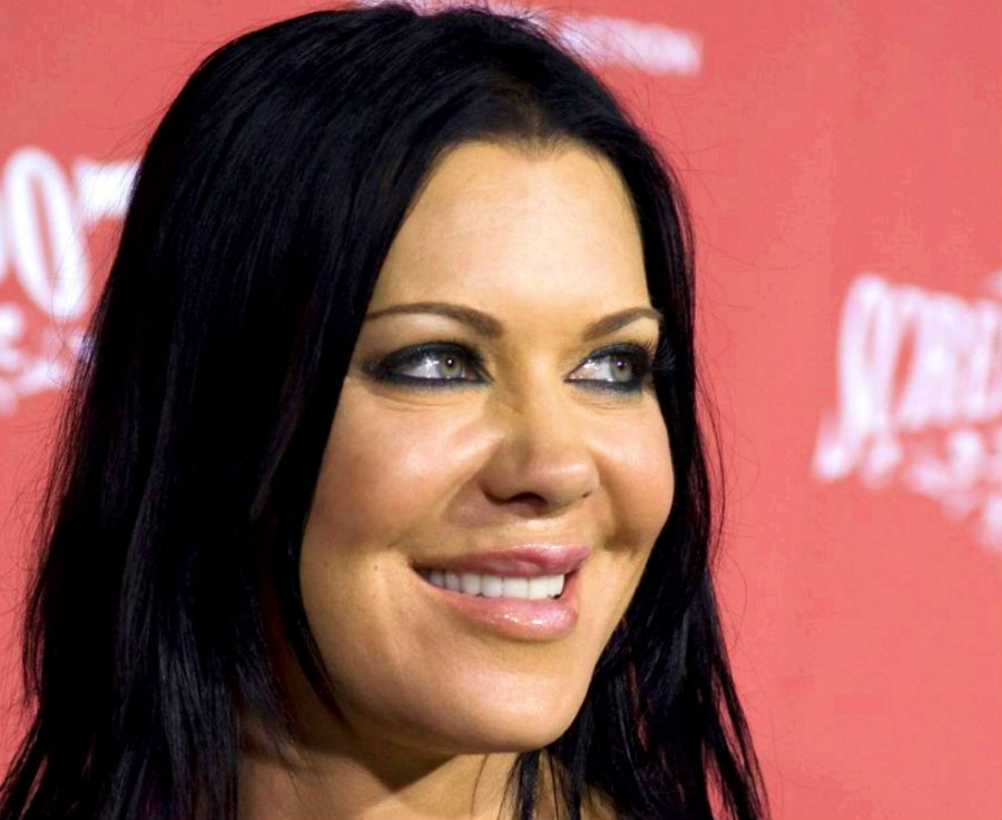 Former WWE superstar Chyna died at the age of 45, her manager announced on Twitter early Thursday. Photo credit: Snopes