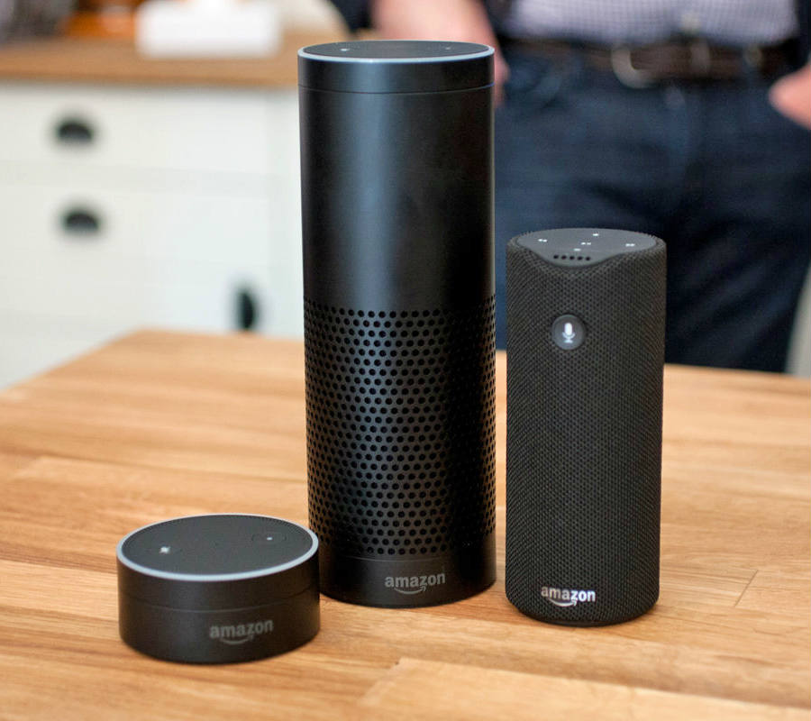 The newly released device system named Alexa also expanded its skill set, adding content to its Flash Briefing feature. Credit: Engadget