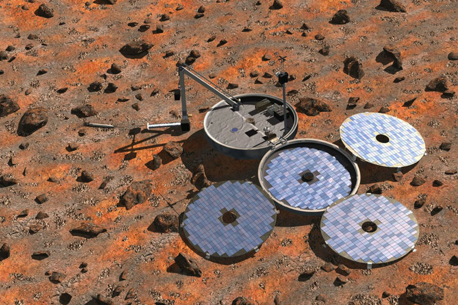 The Beagle 2 was found by the team from University College London and from the University of Leicester, just when they released a series of sharper images of the surface of Mars. Photo credit: ESA / Denman productions / Wired