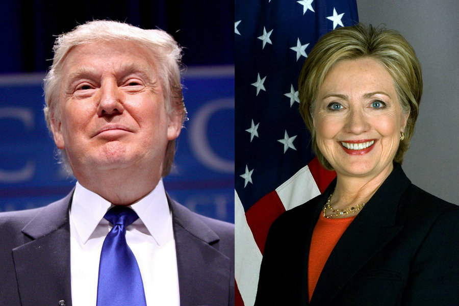 Hillary Clinton and Donald Trump obtained the majority of votes on the Tuesday presidential primaries. Photo credit: E Spaces