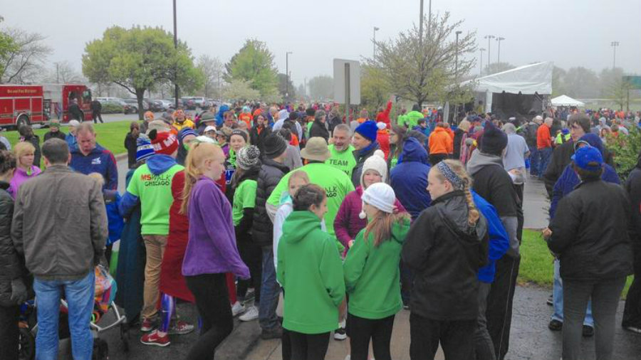 On Sunday, many citizens from the city of Chicago gathered in the Orland Park for an MS fundraising walk. Photo credit: Mike Nolan / Daily Southtown / Chicago Tribune