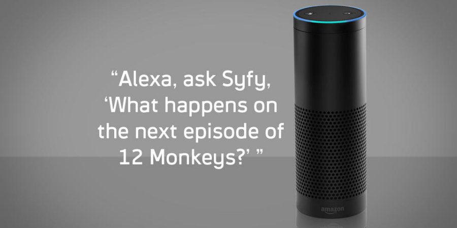 NBC Universal Media Labs and SyFy connected their shows to the Alexa service through SyFy's Innovation Lab, where questions were developed for several of its shows. Photo credit: Syfy