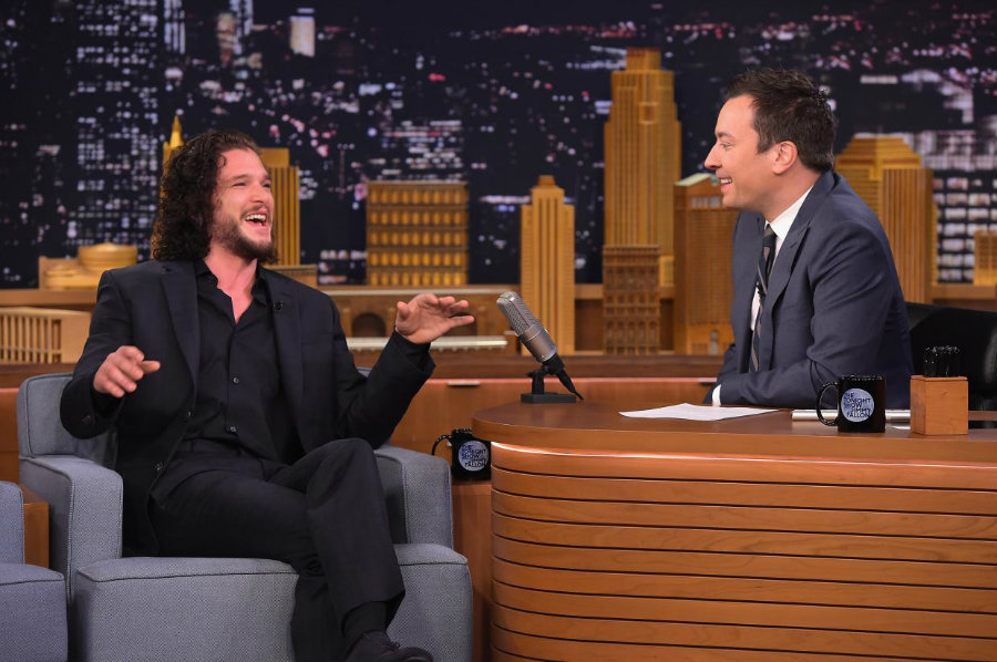Kit Harrington revealed on Friday's episode of The Tonight Show Starring Jimmy Fallon that a police officer was one of the five privileged people who were told from him that Snow would live in the sixth season. Photo credit: Independent