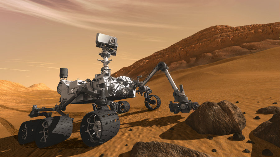 NASA's car-sized robotic rover, Curiosity, has reached its second Martian year in the planet, about 687 Earth days. Photo credit: NASA