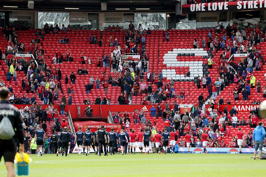 Old Trafford Stadium evacuated