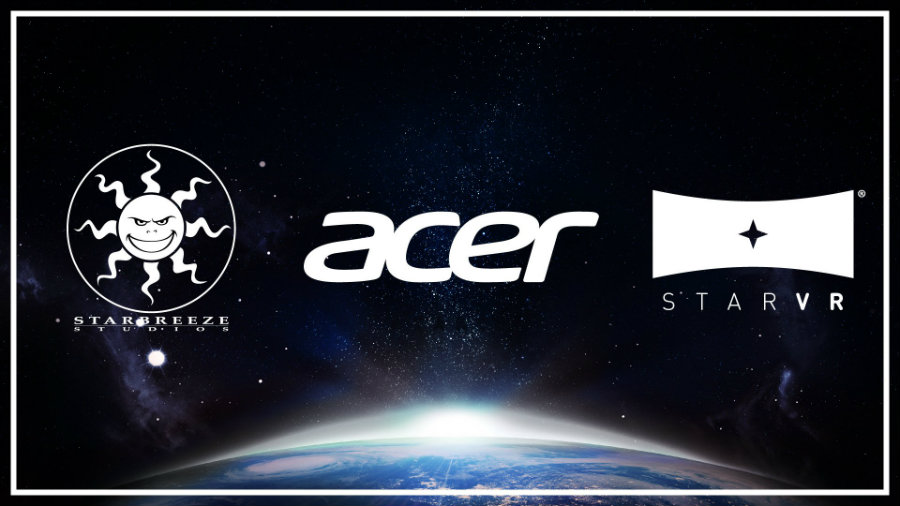 Starbreeze announced its partnership with Acer in the development of StarVR, its new high FOV and high-resolution VR headset. Photo credit: Etr.fr
