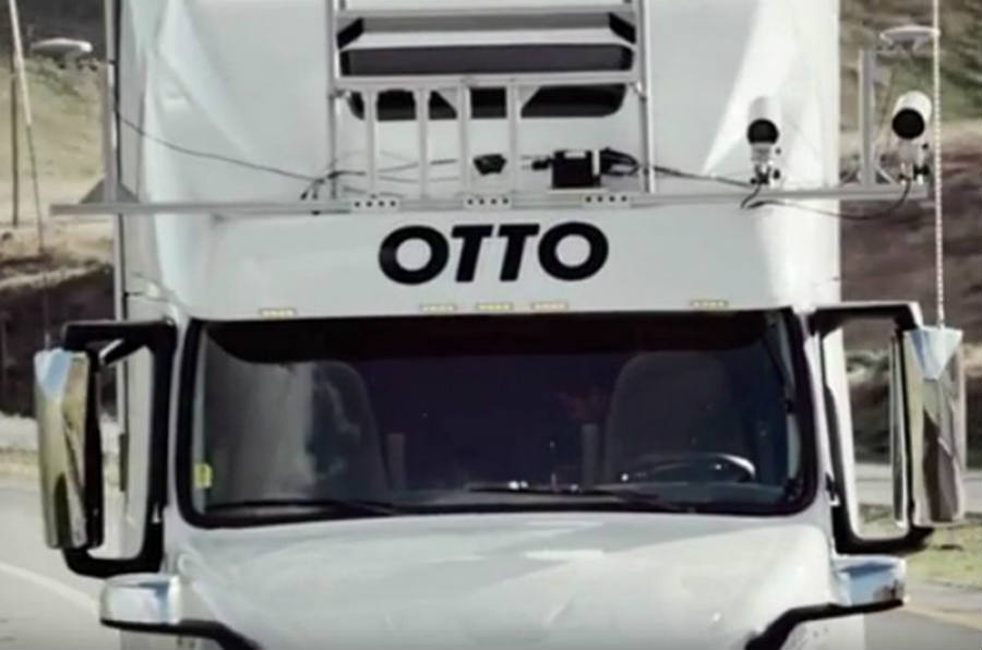The latest Otto driverless truck could bring a new age of self-driving transportation mechanisms. Otto has outfitted three big-rig cabs with its automated technology. Image Credit: Yahoo
