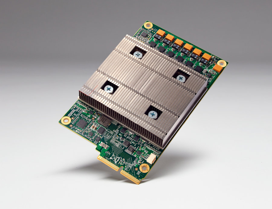According to the company the Tensor Processing Unit is a custom ASIC, which is an application-specific integrated circuit. Photo credit: Google Cloud Platform Blog