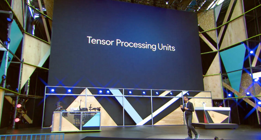 "Google announced on Wednesday its new Tensor Processing Unit (TPU) custom chip that, according to the company, will take chip technology ""seven years into the future"". Photo credit: Venture Beat"