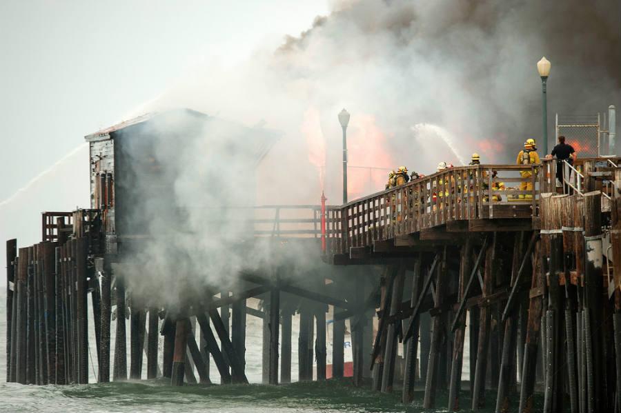 Seal Beach Pier Fire