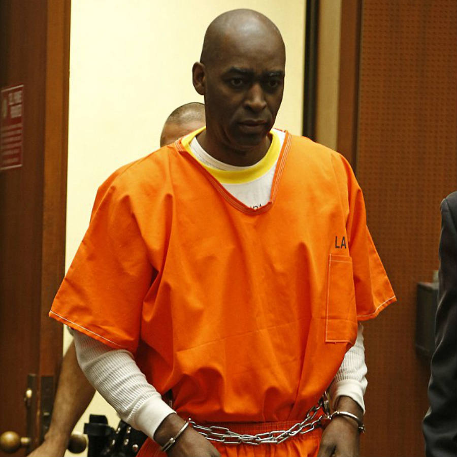 Actor Michael Jace appears in court in Los Angeles due to an ongoing investigation for the murder of his wife April Jace