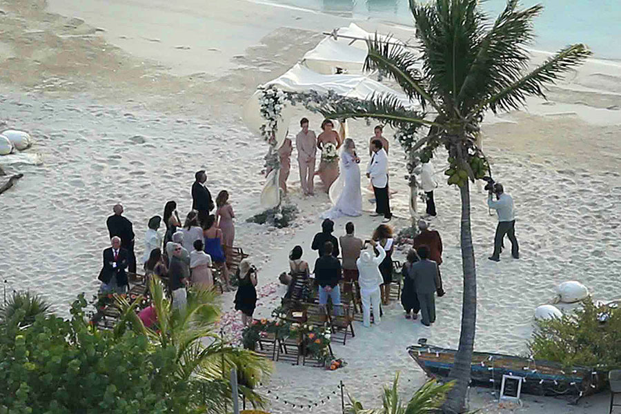 Depp and Heard's wedding