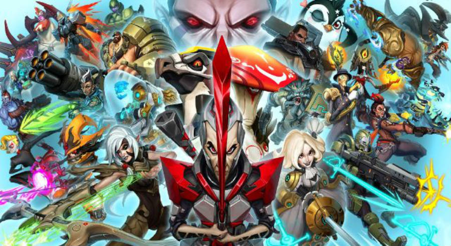 The official poster for the Battleborn's latest release features new characters and game modes