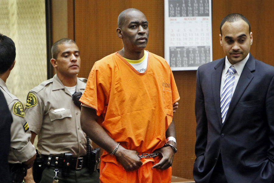 Michael Jace on his trial for murder earlier this month after evidence was presented during the last week. Photo credit: Al Seib / Los Angeles Times