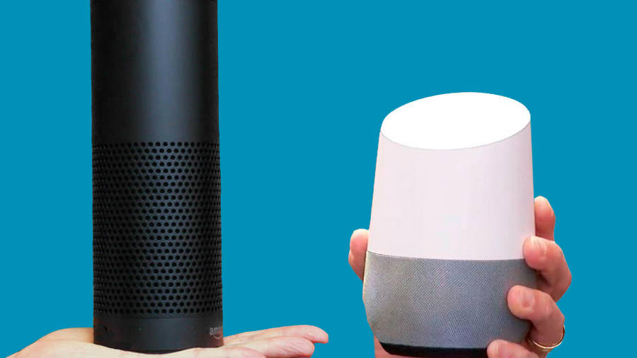 On the upcoming battle for wireless speaker devices controlled by mobile apps, Google home shows to be a tough contender. At least when compared to the Amazon Echo. Image Credit: CNET